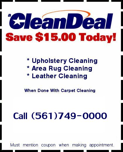 Discounts and Coupons Boca Raton Carpet Cleaning